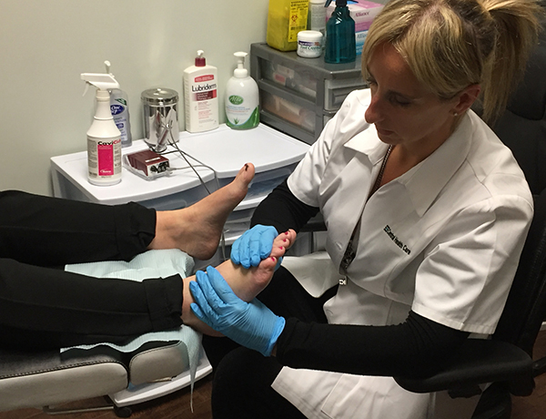 Chiropodist Podiatry Foot Specialist Trina Scarrow Treating Feet