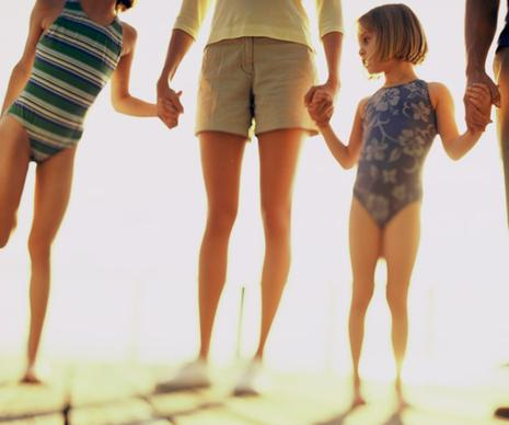 Family Showing Legs and Feet