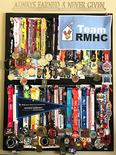 Trina Scarrow Chiropodist Marathon Runner Medals
