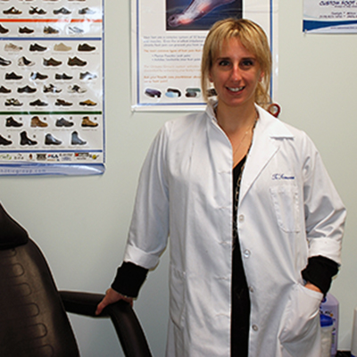 Trina Scarrow DCh Chiropody Podiatry Orthotics Clinic Guelph and Milton